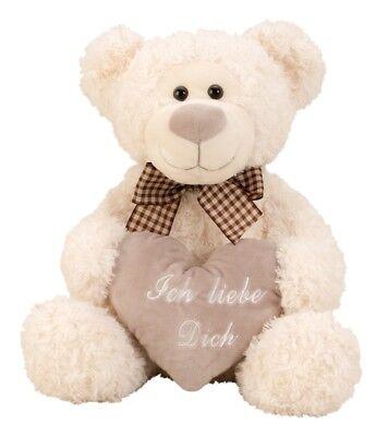 Bär mit Schleife und Herz Ich liebe Dich Teddy 32 cm Kuscheltier Teddybär