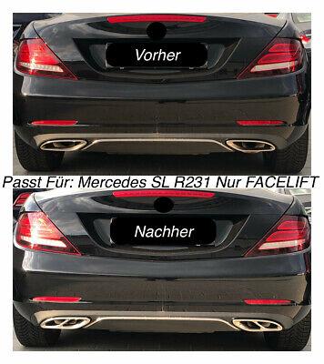 Top Chrom Edelstahl Auspuffblende Für Mercedes SL R231 Nur FACELIFT Modell (205