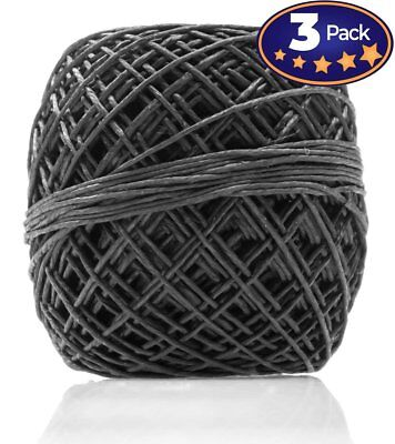 Black Hemp Cord 200 3 Pack = 600 Feet Total! Perfect For Jewelry & Necklace...