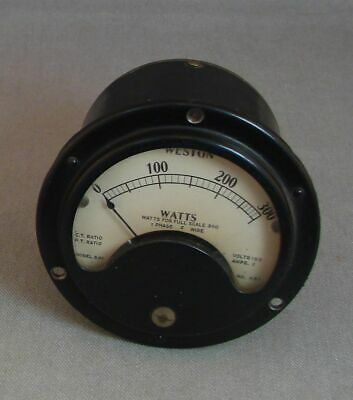 Vintage Weston Watts Meter