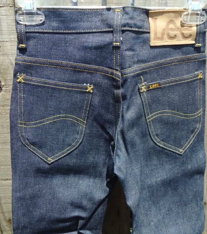 NOS Vtg 60s Lee Riders Boot Cut Jeans 8R 8 Regular USA Made Oldstock Sanforized