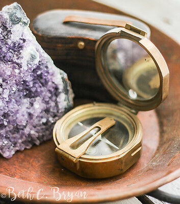Brass Surveyor Compass- the perfect engagement ring box.