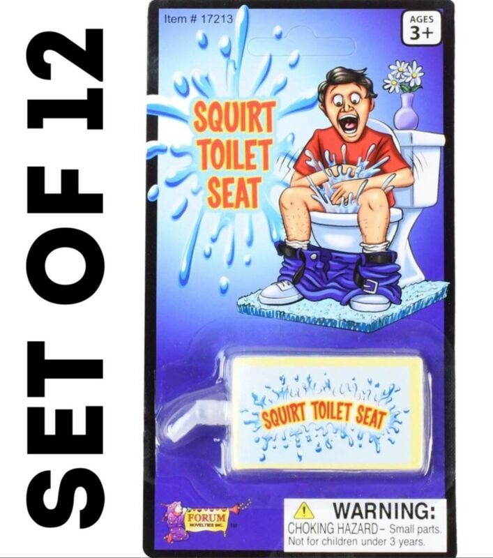 12 Toilet Seat Water Squirt Prank Funny Practical Joke Bathroom Novelty Gag Gift