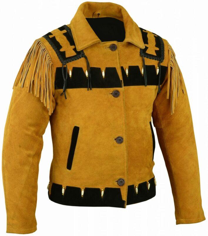 Germanwear, Western Rider Leather Jacket Indians Costume Vest Jacket Carnival