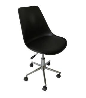 Mora black padded seat gas lift office chair