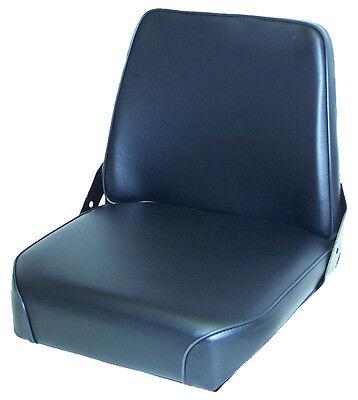 Black Vinly Seat With Steel Frame Fits Case Ih Loader Backhoe 3444 Tractor