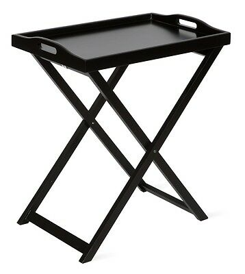 Butlers Tray/Side Table/Bedside Table/Folding Table Lounge Black