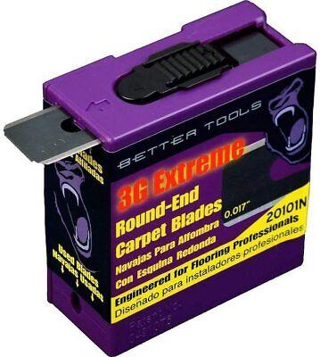 Better Tools Carpet Blades - Round End 3G  100 blades/dispensers