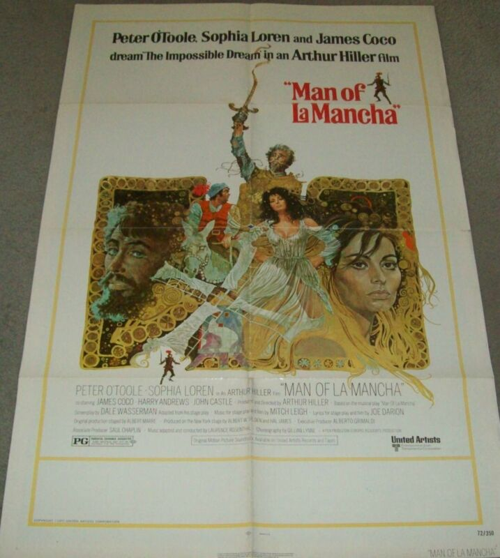 RARE 1972 MOVIE THEATRE POSTER....O'TOOLE and SOPHIA LOREN .......