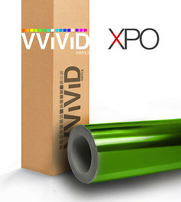 Green supercast chrome car vehicle vinyl wrap bubble-free roll VViViD 100ft x5ft