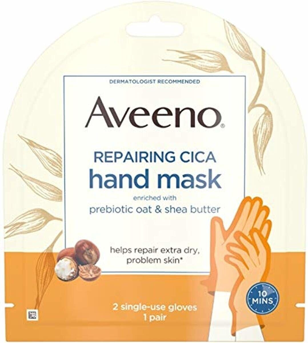 Aveeno Repairing Hand Mask with Prebiotic Oat and Shea Butte
