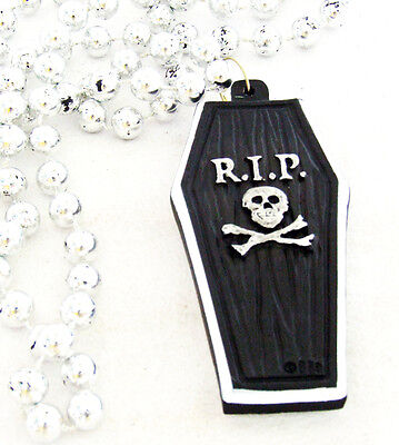 New Orleans Halloween Bourbon Street (RIP Black Coffin New Orleans Beads Halloween Party Bead Bourbon Street)