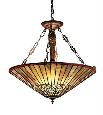 Geometric Stained Glass Chandelier - Stained Glass Chloe Lighting Geometric 3 Light Inverted Pendant Lamp 24.5