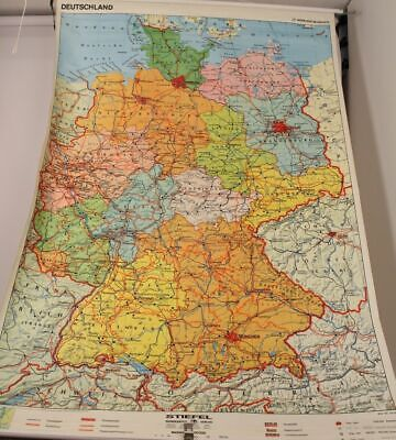Schulwandkarte Role Map Wall Chart Germany Wenschow Boots Publisher 1:500000