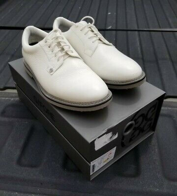 G Fore Gallivanter Golf Shoes Mens Collection White Pebbled Leather Size 10 US