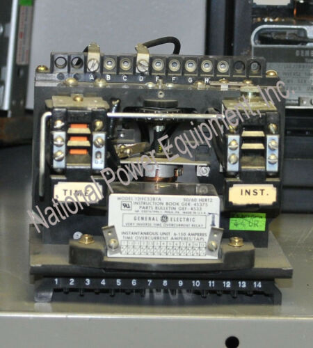 General Electric Type IFC Very Inverse Time Overcurrent Relay 12IFC53B1A