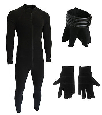 BUNDLE - Bodysuit, Neck Seal and Gloves for a Star Wars Stormtrooper - Seal Costume For Adults