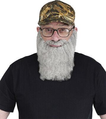Morris Costumes Men's Crazy Quackers Camo Hat Grey Beard. FW90290HG