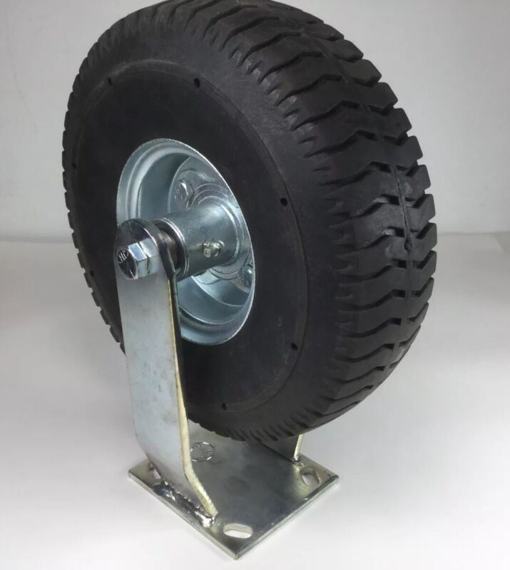 "10"" ALBION RIGID MOUNT CASTER NO FLAT RUBBER TIRE"