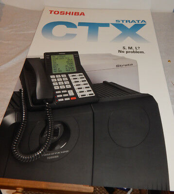 Toshiba Strata Ctx 100 Phone System 24x36 Poster