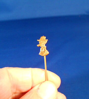 Vintage Male Cartoon Character Brass PIN. FREE Shipping - Male Cartoon Characters