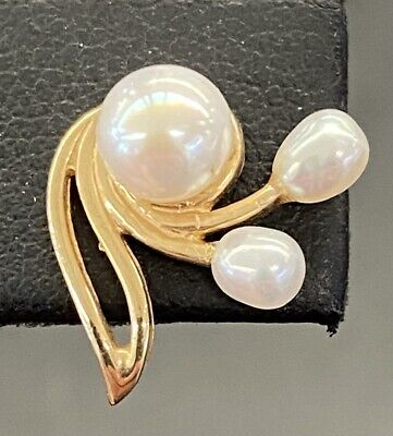 Pearl Gold-Stone Earrings 14K Yellow Gold 2.1g (ROC022657)