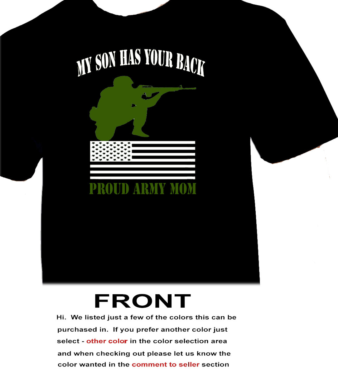 My Son Has Your Back - Proud Army Mom - Patriotic USA-3463