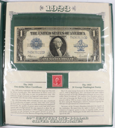 Complete Collection of 20th Century One-Dollar Silver Certificates w/ Stamps $1