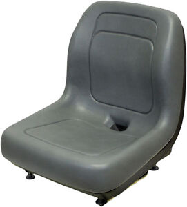 FORD NEW HOLLAND SKID STEER SEAT GRAY FITS LS120, LS125, LS140, LS150,LS160 #QI