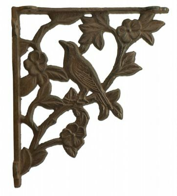 Wall Shelf Bracket Bird Brace Craft Cast Iron Custom Shelves 7.625