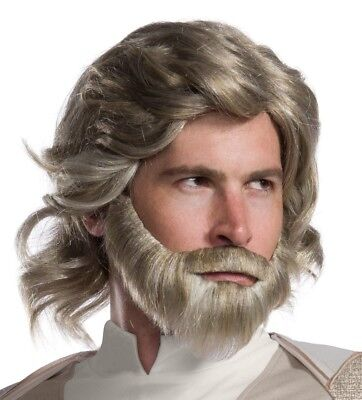Luke Skywalker Star Wars Wig and Beard with Mustache The Last Jedi Mark Hamill](Luke Skywalker Wig)