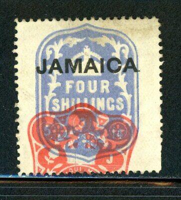 Jamaica BOB Revenue Stamp - Red Cancellation