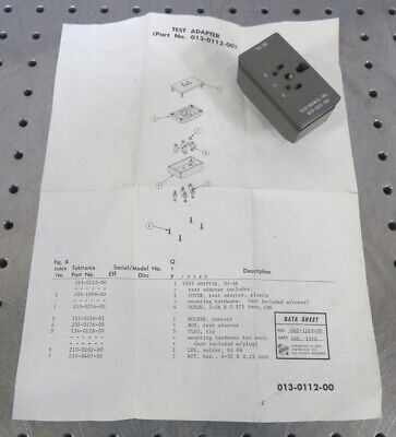 C167008 Tektronix 013-0112-00 To-36 Test Adapter For Curve Tracer Test Fixture
