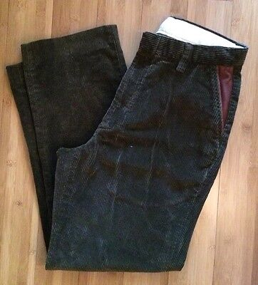$169 Orvis Supercords Corduroy Pants 32 29 Plain Front Dark Green Bozeman Men