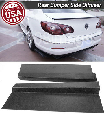 Pair 17 Rear Bumper Diffuser Lip Spoiler Fin Apron Splitter Canard For Nissan