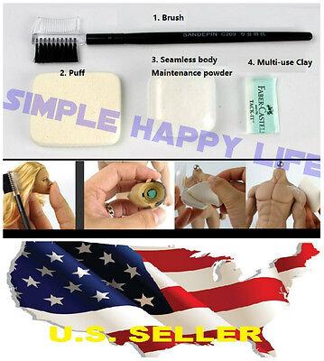 Phicen Hot Toys Jodoll Seamless Female Male Body Maintenance Powder Set Usa