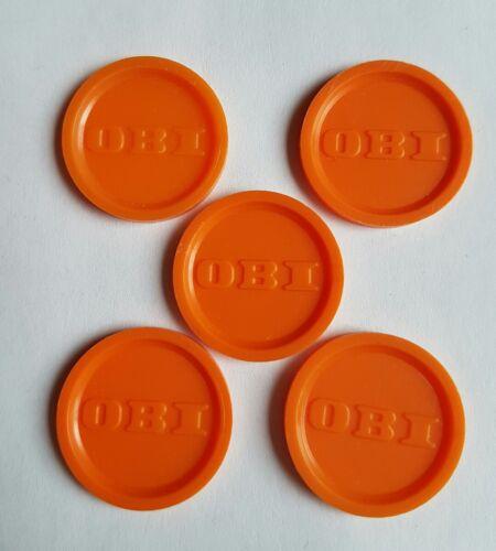 5 OBI Einkaufswagenchips (EKW)  *Sonderaktion* Jetton, Trolley Coins