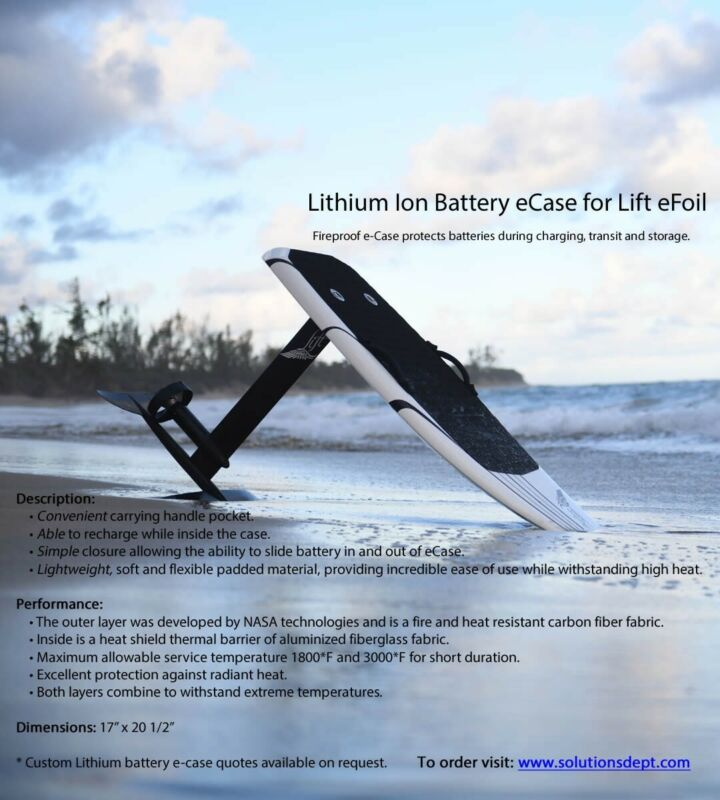 LIFT eFoil Lithium Ion battery case