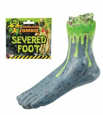 Severed Zombie Foot Human Body Parts Scary Halloween Prop 10""