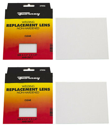 2pack Of Forney 57056 Replacement Welding Safety Lens Eye Protective Clear Glass