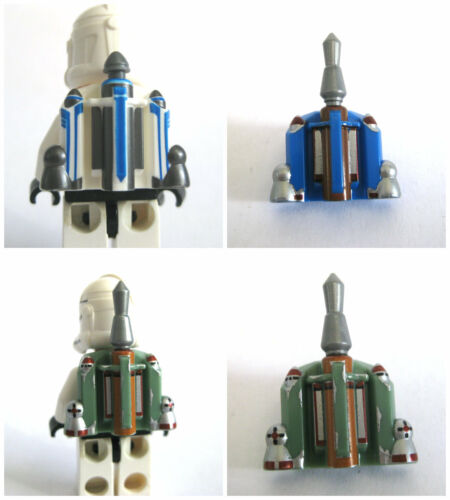 Custom PRINTED JET PACK for Minifigures -Star Wars Clones -Pick your Color!