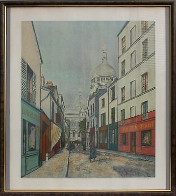 Maurice Utrillo - Farbiger Druck, gerahmt   Größe: 81 X 73 cm