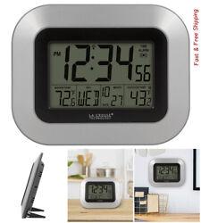 Atomic Digital Wall Clock Indoor/Outdoor Temperature Wireless Temperature Sensor