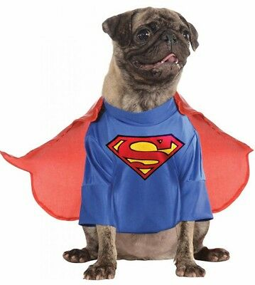 Pet Dog Cat Superman Superhero Halloween Clothing Fancy Dress Costume Outfit