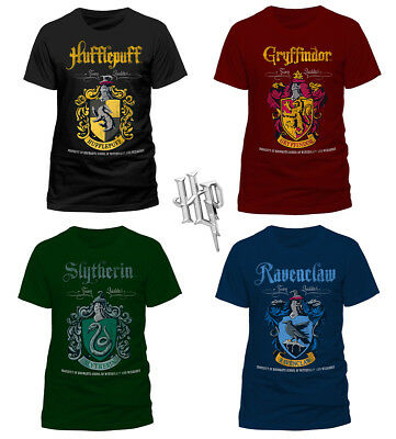 Official HARRY POTTER Gryffindor Ravenclaw Hufflepuff QUIDDITCH T-Shirt Tee NEW