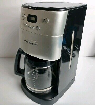 Cuisinart Automatic Grind & Brew 12 Cup Coffee Maker - Black/Silver