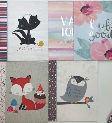 Adorable Paper 2 Pocket Folders 3 PACK Fox Skunk Owl Inspiration 3 Hole Punched 2 Hole Punched Paper