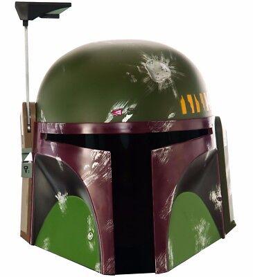 Boba Fett Helmet Deluxe Edition Bobba Star Wars Mask Mens Authentic Licensed Fet](Boba Fett Costume)
