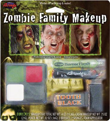 Morris Costumes Unisex Zombie Family Hypoallergenic Makeup Kit. FW9475Z - Zombie Family Costumes