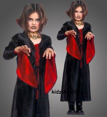 Halloween Kinderkostüm Vampirin Gothic Hexe Vampir Kostüm Mädchen - Gothic Vampir Kinder Kostüme